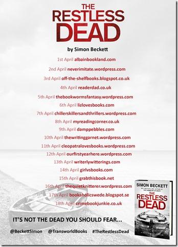 The Restless Dead blog tour banner