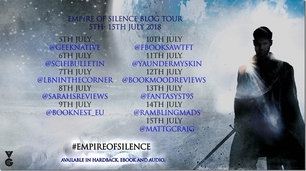 empire of silence blog tour banner